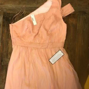NWT size 16 Jcrew coral/light peach silk dress